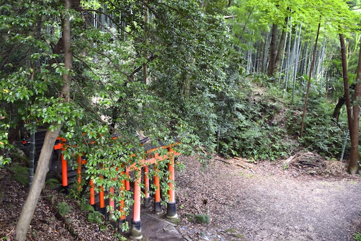 The entire Mount Inari is sacred land with various shrines and sacred spots surrounding Senbon Torii.