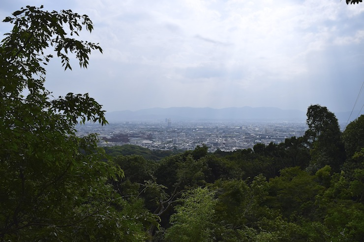 From the top of mountain, you can enjoy the view of Kyoto city.