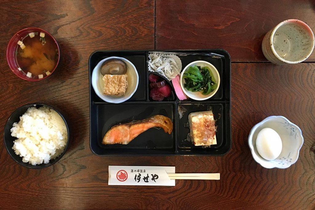 Traditional Japanese meal set
