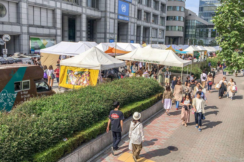 Tokyo food markets Tokyo Farmer's market omotesando