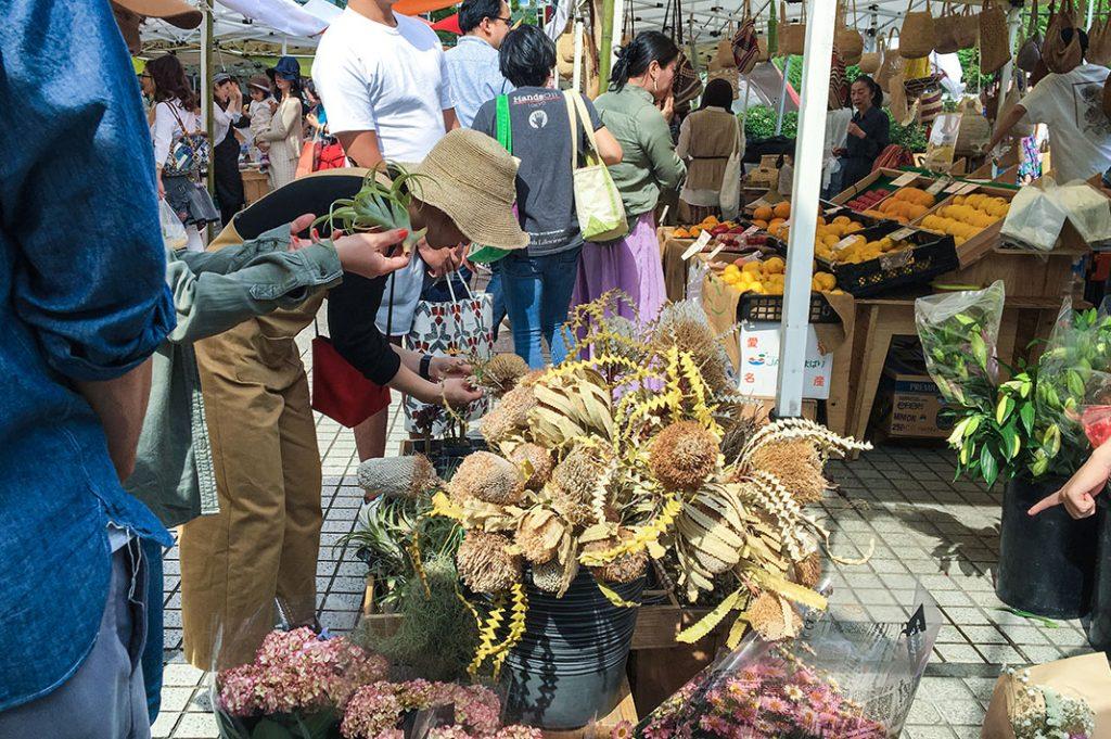 A short walk from Omotesando station is Tokyo Farmer's Market