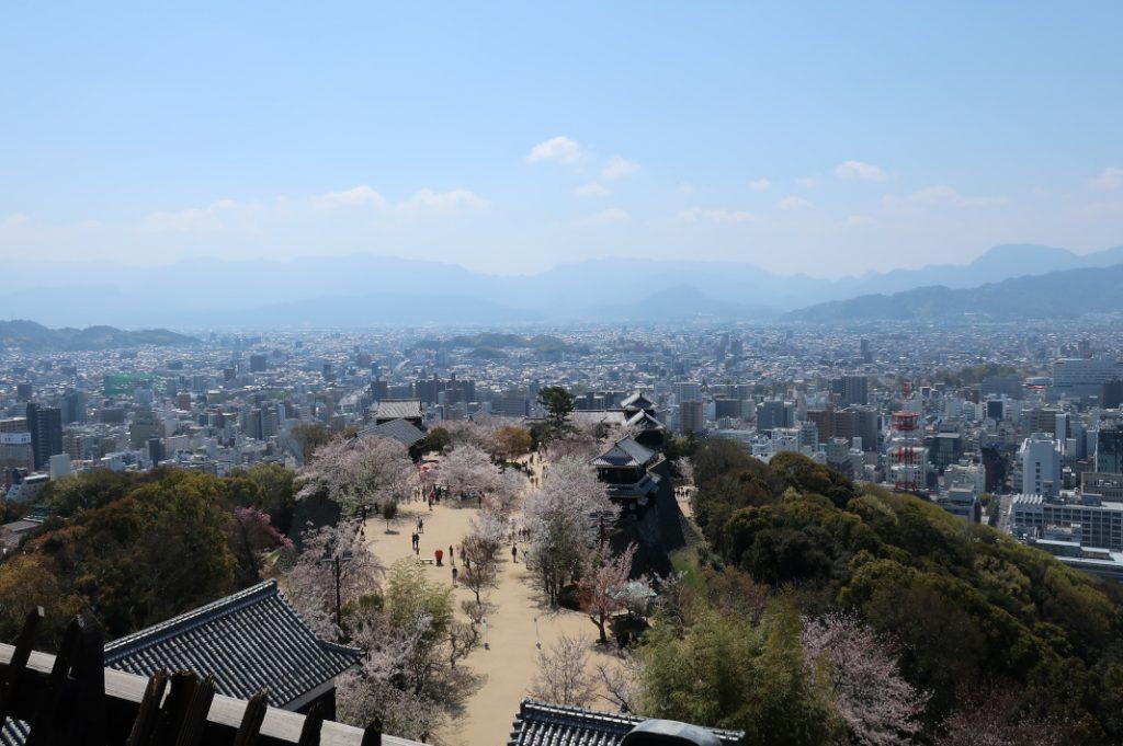 A view of Matsuyama City.