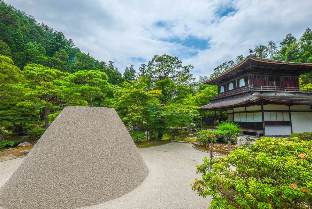 The shogunate originally built the structure of Silver Pavilion as a retreat but subsequently designated it as a Zen temple.