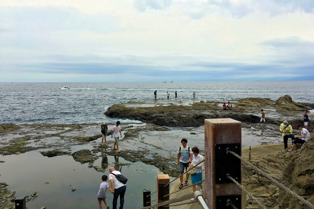 Our guide recommends Chigogafuchi Plateau for fishing, sun bathing, and tide pools.