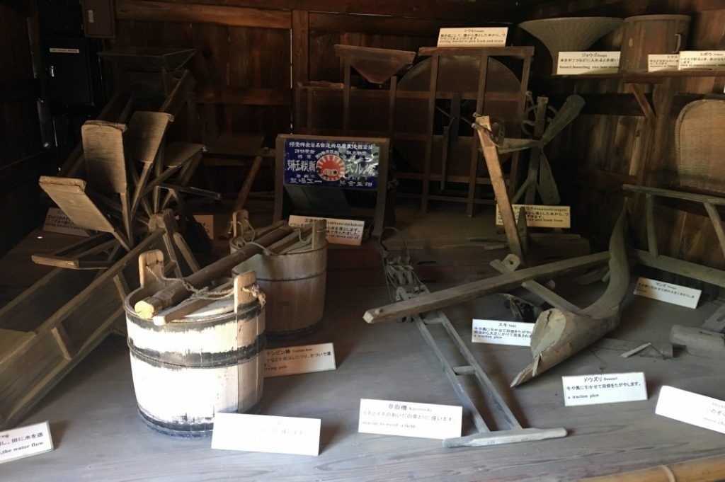 Not only about architecture, the museum also displays folk tools.