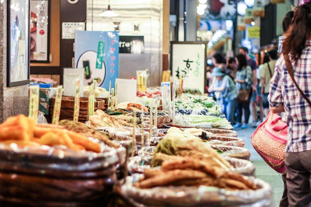 nishiki market shopping pickles