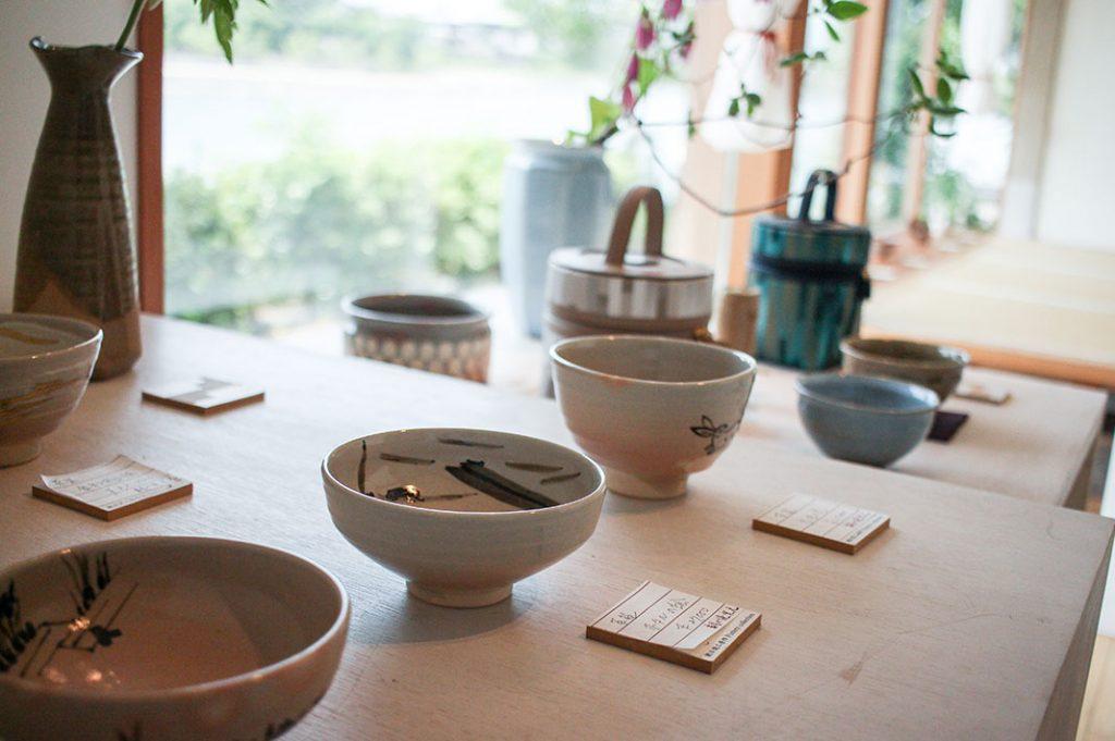 Green tea cups in Uji, Kyoto