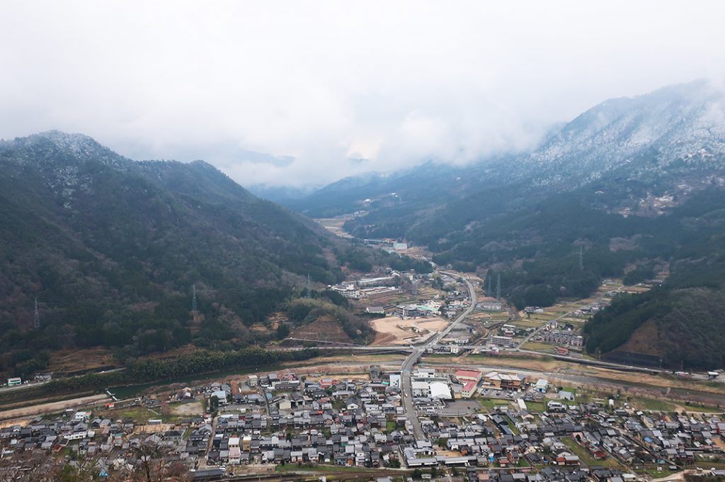 The Town of Takeda as Seen from the Top of the Castle.