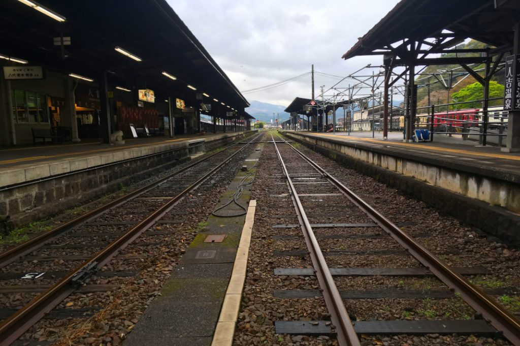 The Hitoyoshi train is pleasantly rustic and located along the route of one of Japan's last remaining steam engines.