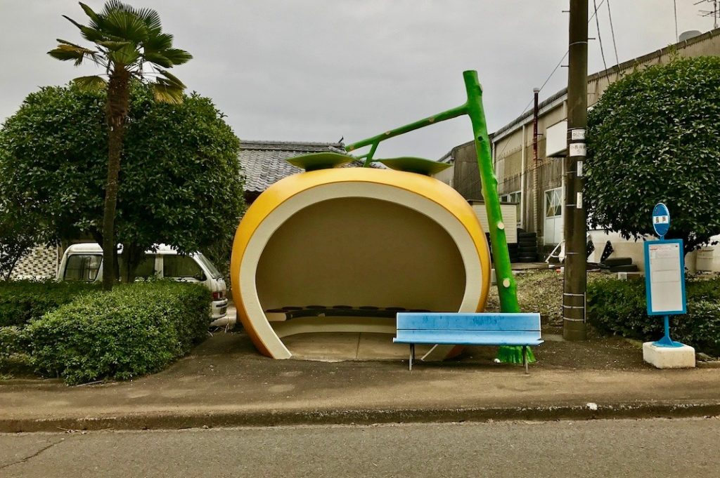 One of our favourite Japan-only structures, though, are the fruit-shaped bus stops in Konagai, Nagasaki Prefecture.