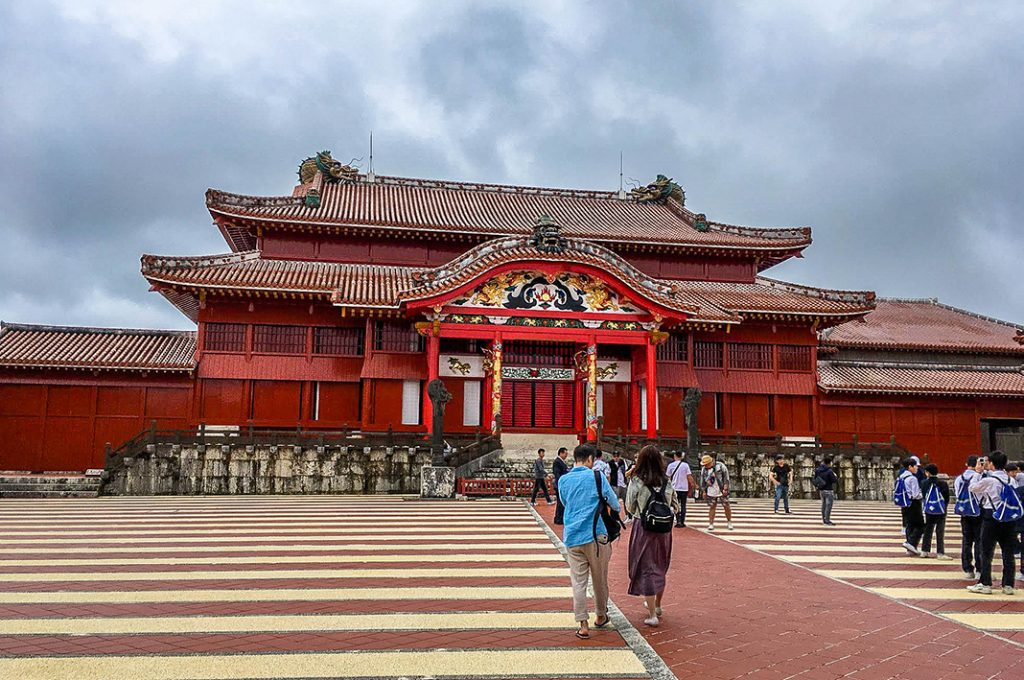 The bright colors and ornate exterior of Shuri castle is frequently compared to the Forbidden City in Beijing.