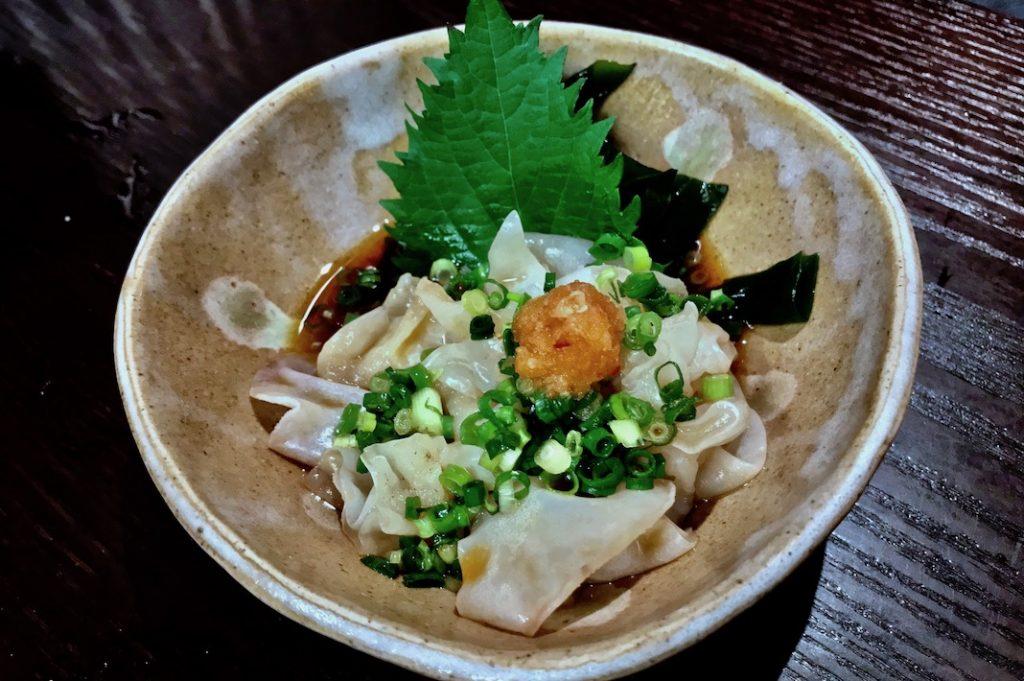 White kikurage or jelly ear mushroom in ponzu sauce at Tobusakana.