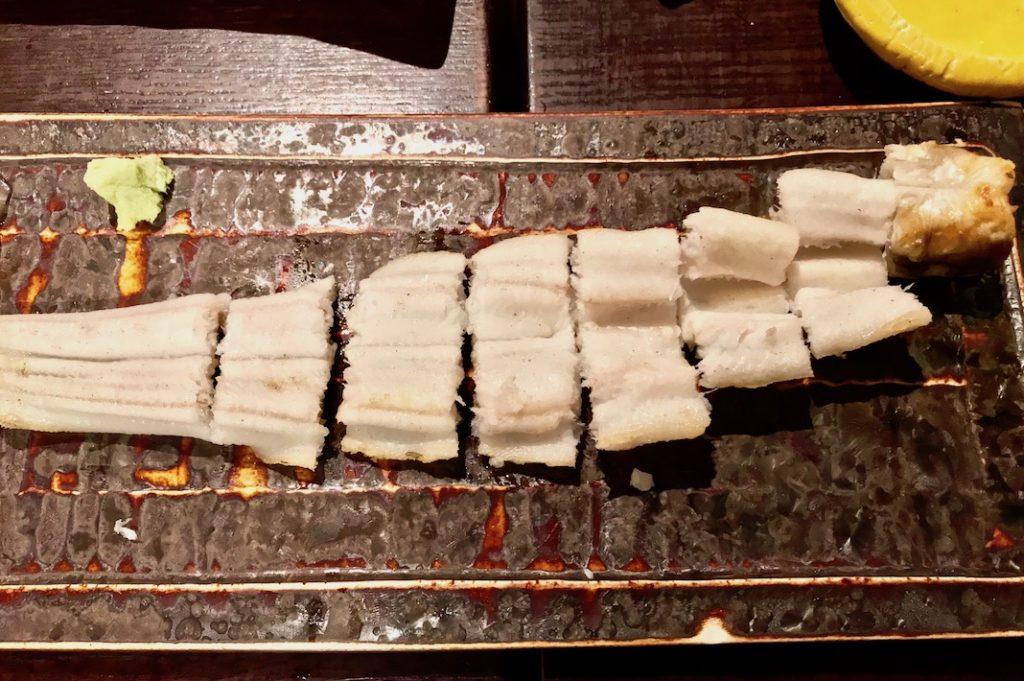 Grilled ocean eel