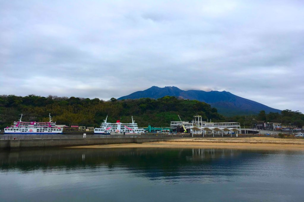 Backpacking through Japan took us to Sakurajima, which continuously erupted during our visit.