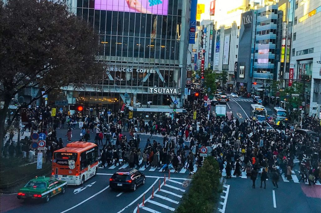 The Shibuya Scramble crosswalk is one of the most iconic spots in the city.