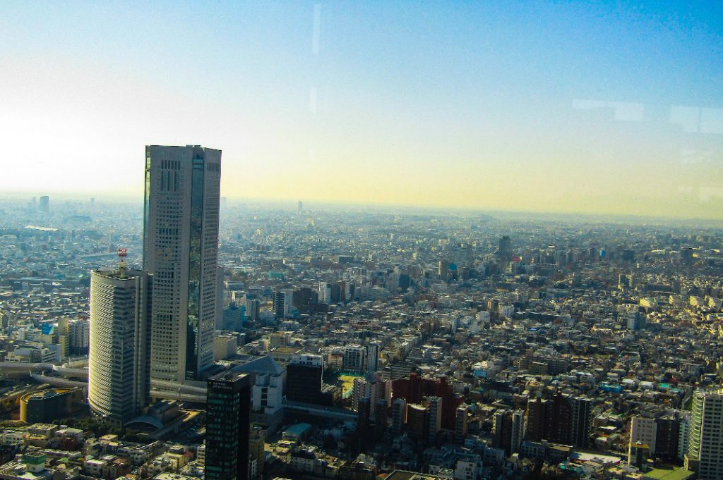 The view from the Tokyo Metropolitan Government Building is spectacular on all sides.