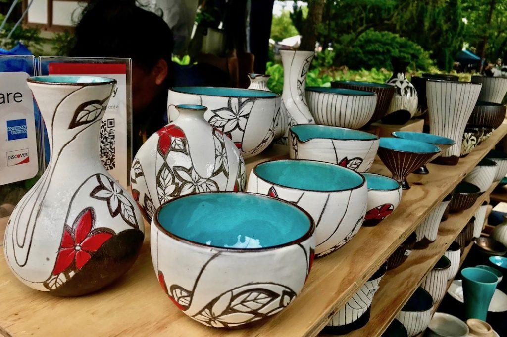 Gorgeous ceramics at the market