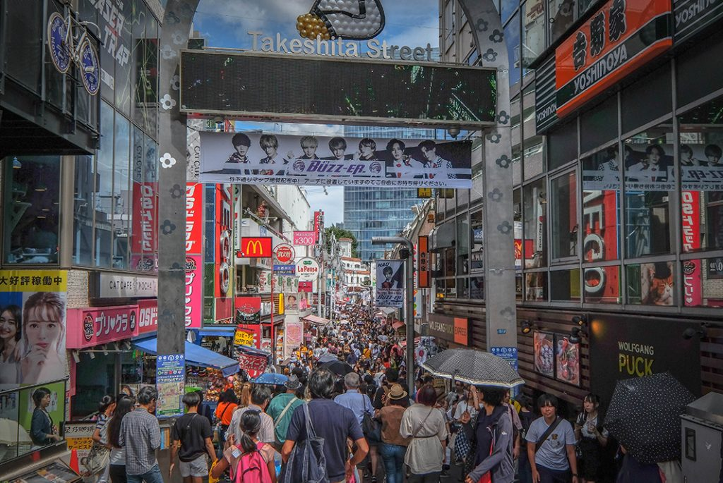 Touring Harajuku and Omotesando - extremely crowded in Takeshita Street (Harajuku)