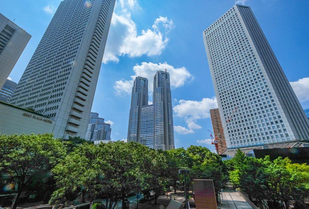 Spectacular twin buildings in Shinjuku