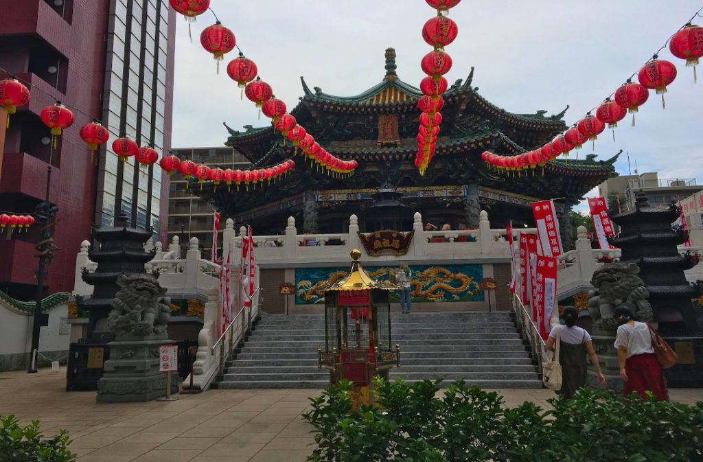 As your finish your Yokohama tour, a bright temple marks the entrance to Chinatown.