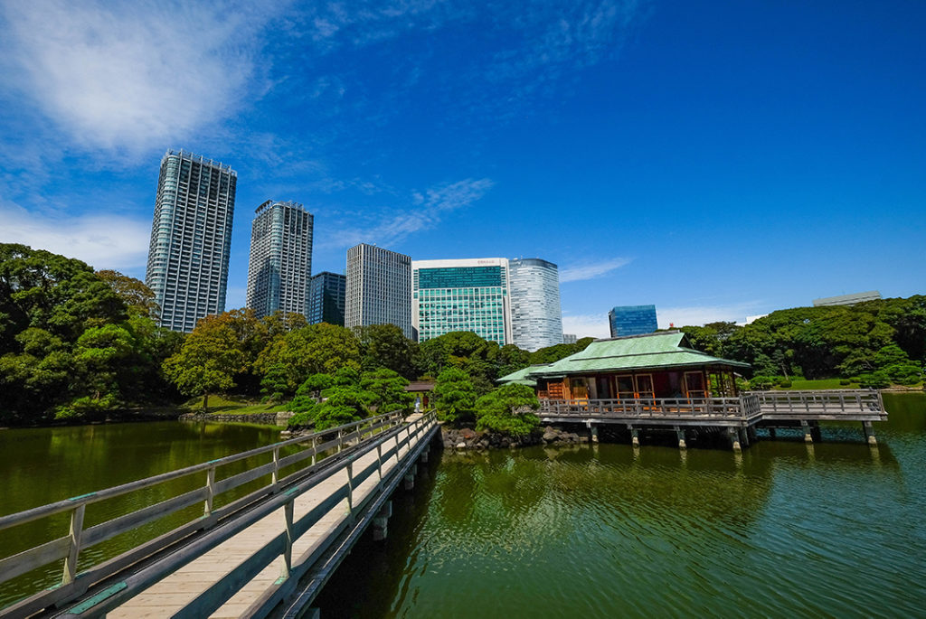 Hamarikyu Gardens is a stunningly landscaped garden.