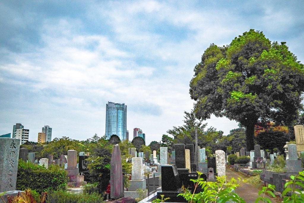 Roppongi Hills from Aoyama Cemetery