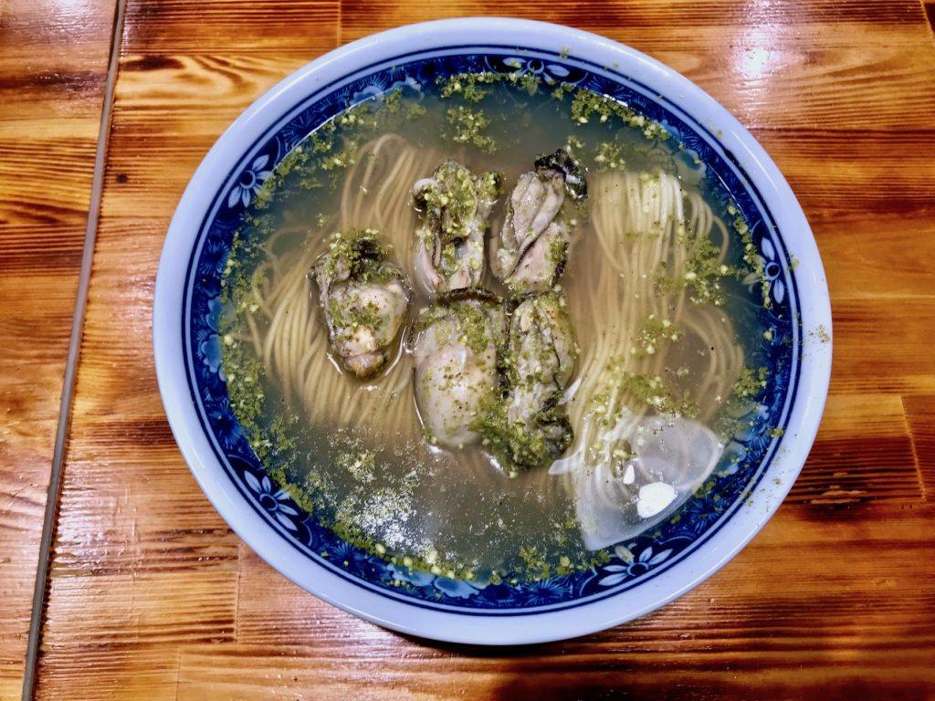 Oyster-sansho soba (Ramen)