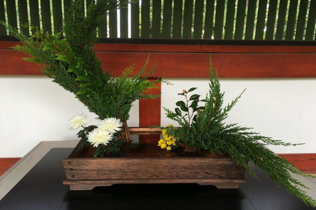 Check Todai-ji Temple's grounds for seasonal displays like this flower arranging (ikebana) display