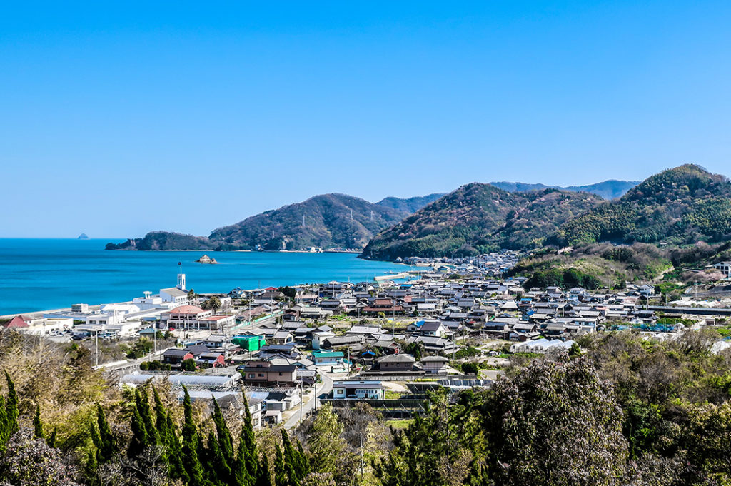 This small seaside town in Shikoku is one of many visible from the Shimanami Kaido.