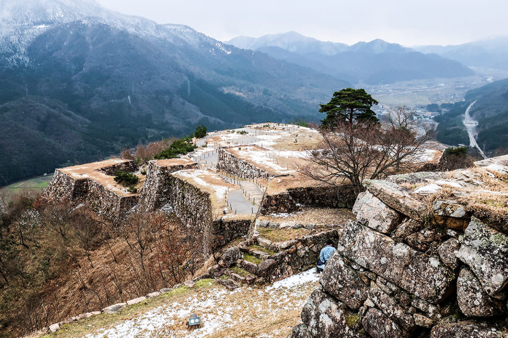 A View of the Ruins from the Top of Takeda Castle.