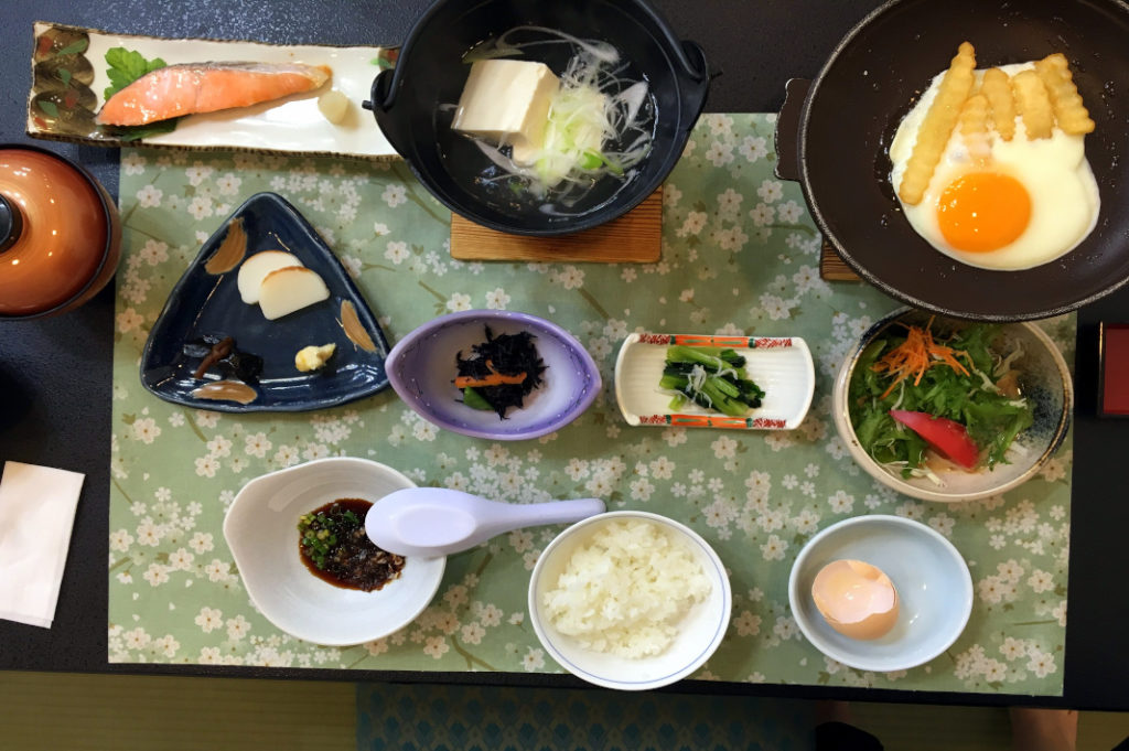 Most ryokan will provide set meals either privately in your room or in a dinning hall