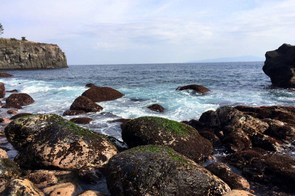 Where the Ito Peninsula meets the sea.