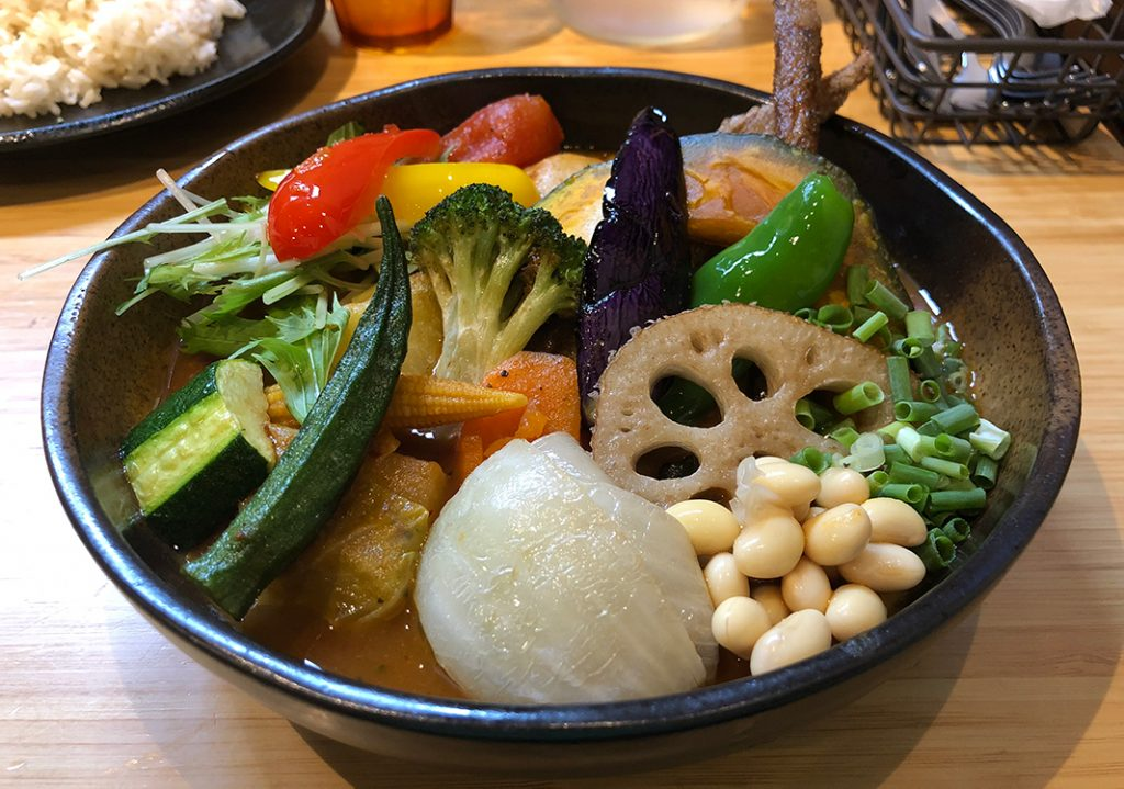 Delicious Vegetable Soup Curry at Samurai Curry in Shimokitazawa