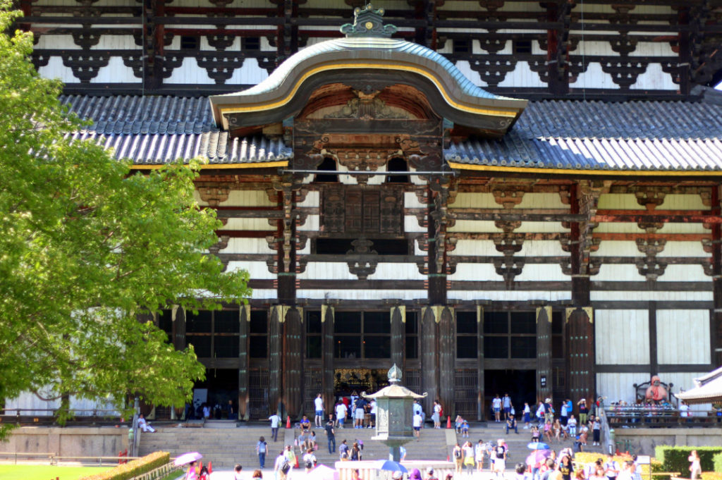 While Todai-ji Temple looks big from a distance, it's massive up close