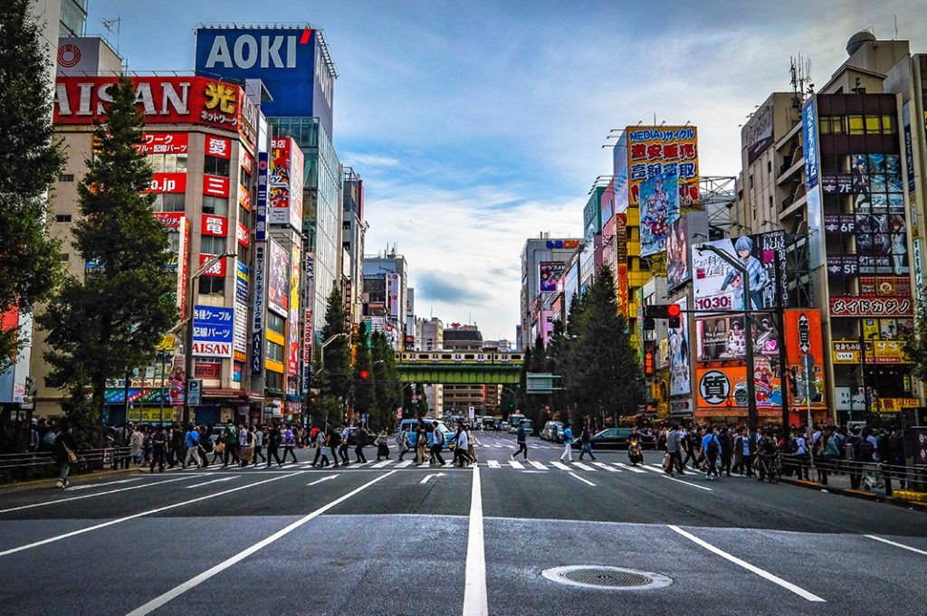 After World War II, Akihabara was home to one of many post-war black markets, increasing the flow of shoppers.