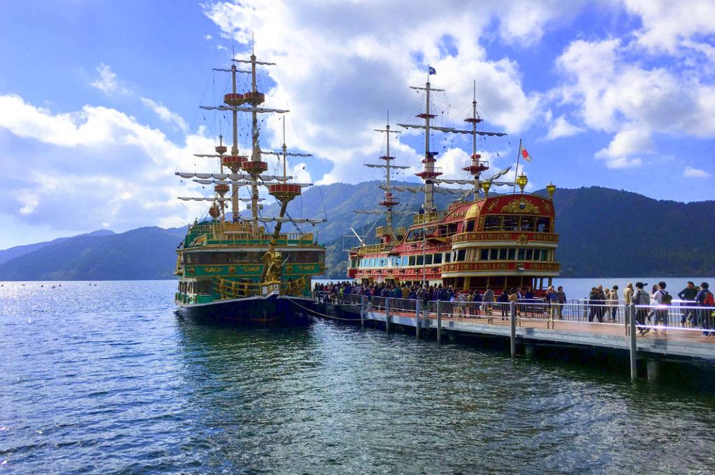 Lake Ashinoko is home to Hakone's pirate ships, courtesy of the Hakone Sightseeing Cruise