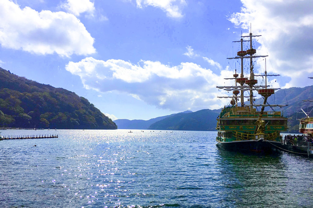 Board Hakone's pirate ships and set sail with the Hakone Sightseeing Cruise