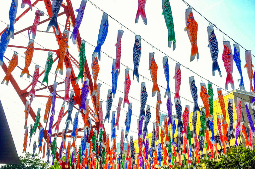 Mysterious Japanese fish flags pop up across the country in anticipation of Children's Day