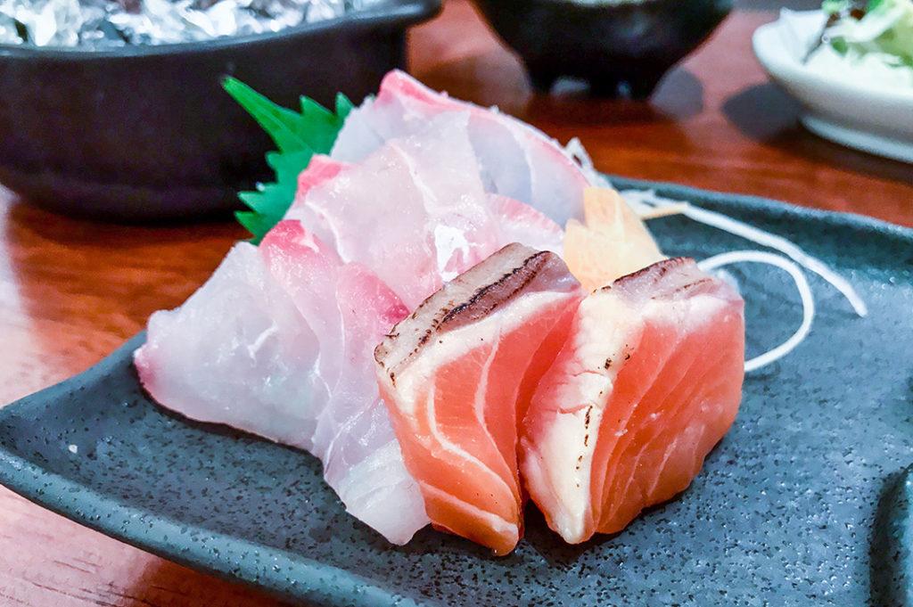 Mixed sashimi, classic izakaya fare