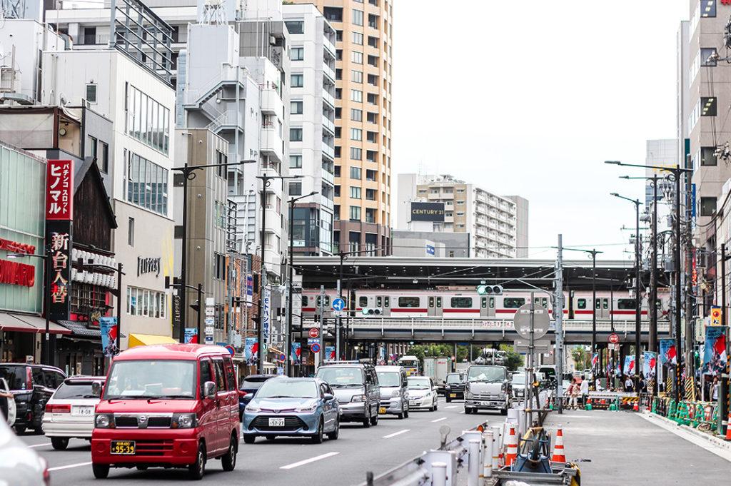 Nakameguro Tour: Yamate-dori near the station