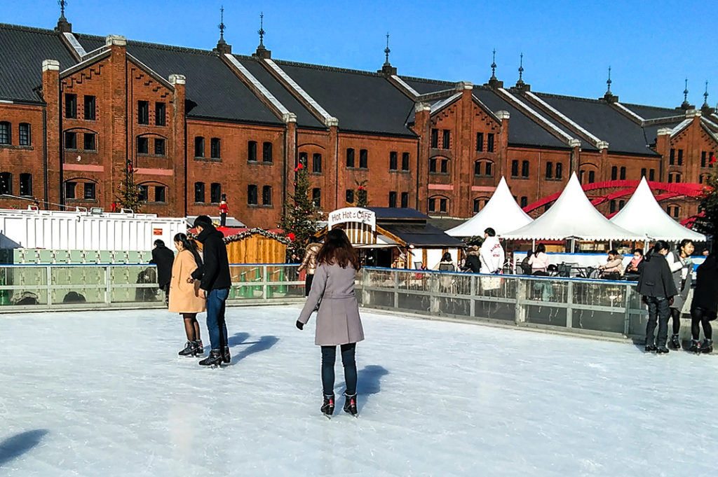 In the winter, the Yokohama Red Brick Warehouse also hosts an outdoor Christmas Market