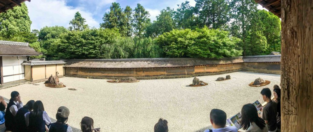 The famous and mysterious Rock Garden of UNESCO listed Ryoanji Temple