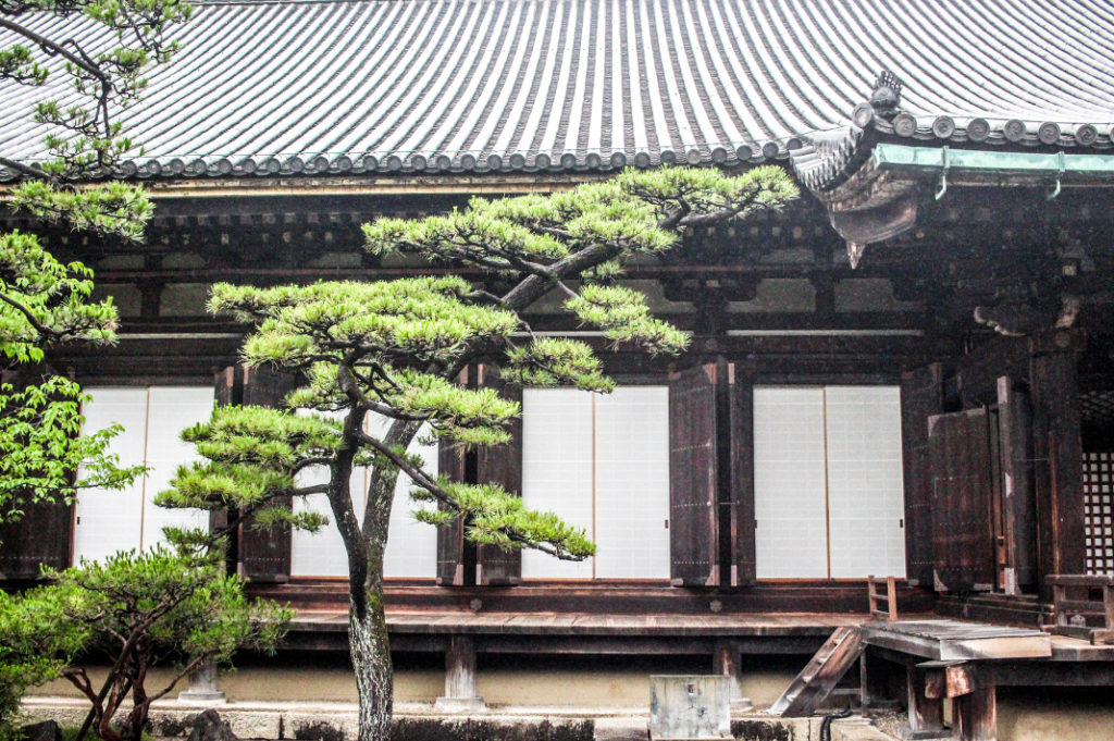 Sanjusangendo is a National Treasure filled with 1,001 statues of Kannon, all also National Treasures.