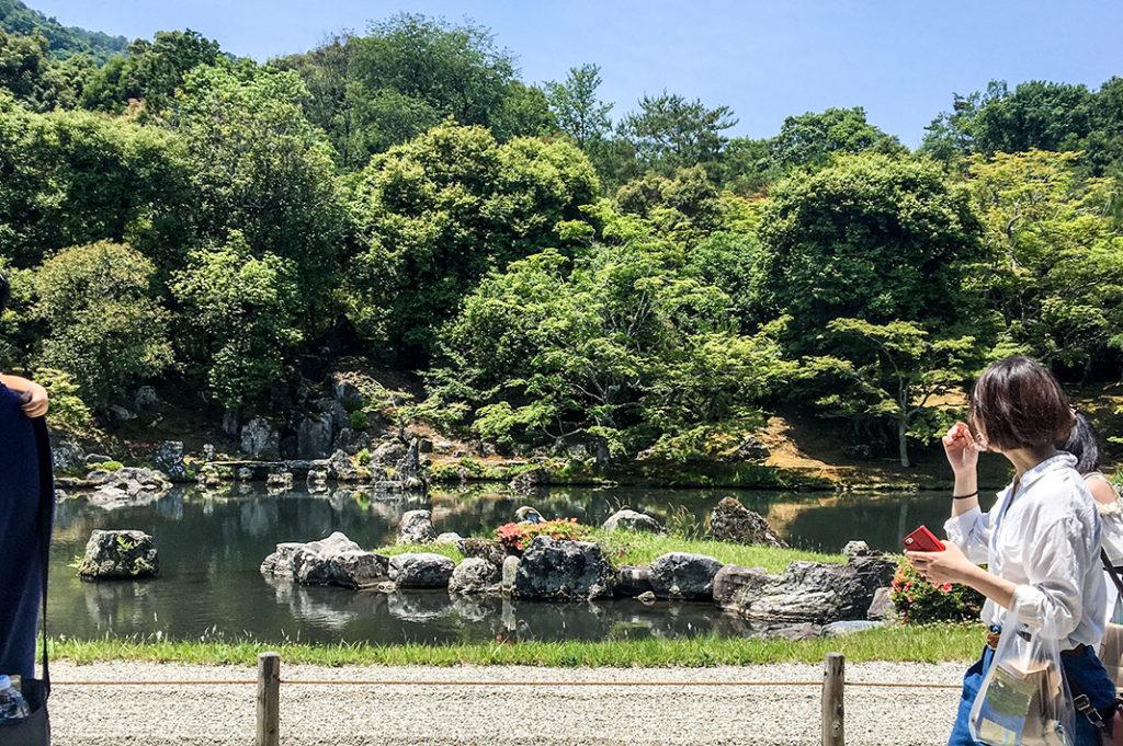 The famed gardens at Tenryuji Temple in Arashiyama