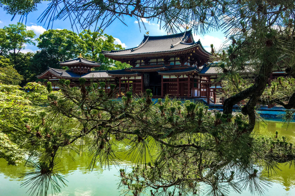 The Phoenix Hall at Byodoin Temple in Uji