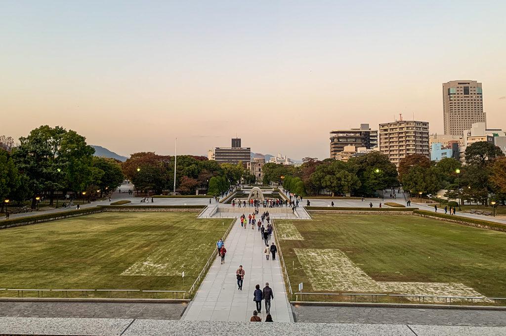 View from the Hiroshima Peace Memorial Museum