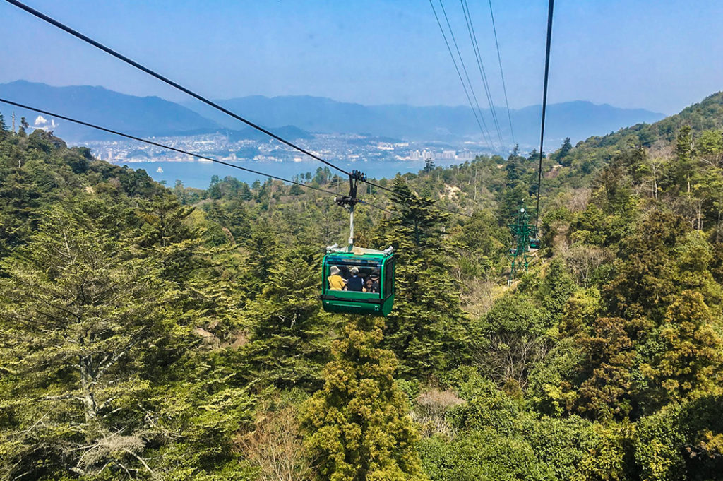 The Miyajima Ropeway is not for those afraid of heights.
