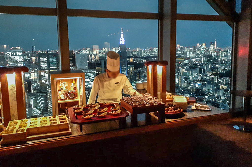 Canapé Station at the Peak Bar and Lounge at the Park Hyatt Hotel