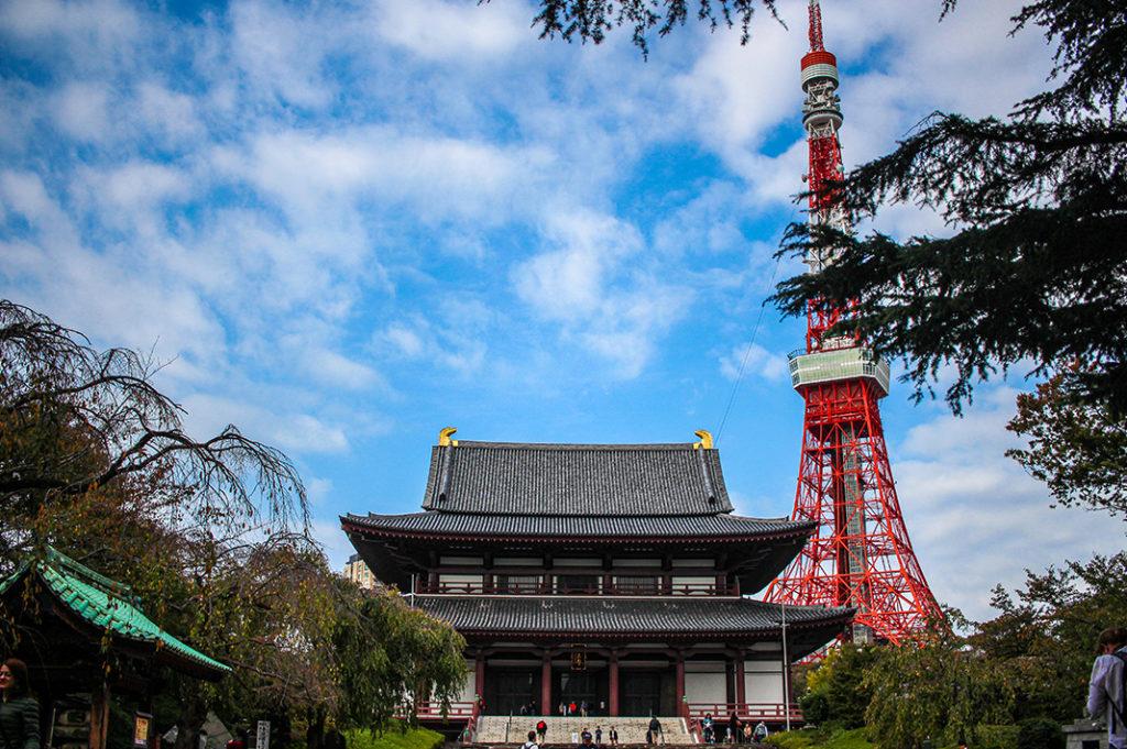 tokyo tower zojoji temple
