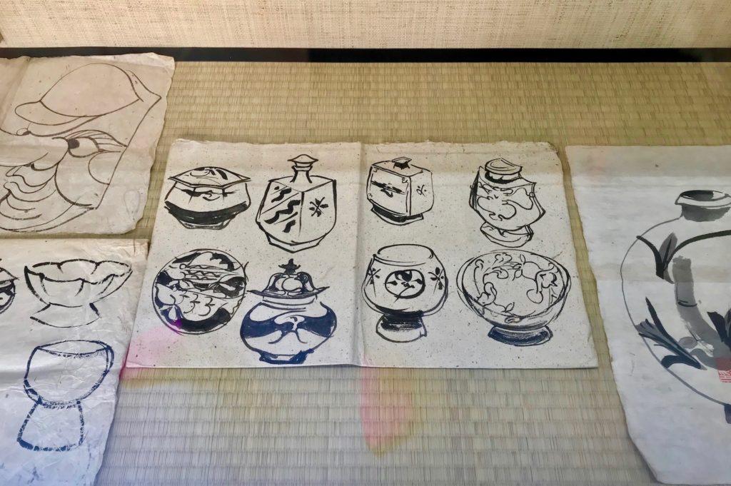 Drawings of ceramics